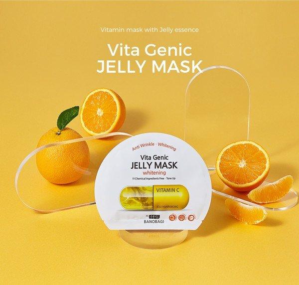 mặt nạ trắng da Banobagi Vita Genic Whitening Jelly Mask (màu vàng)