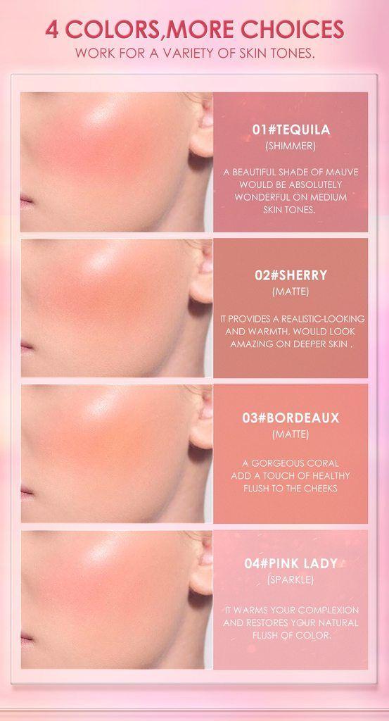 chọn màu đánh má hồng cho từng loại da