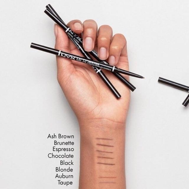 Kẻ mày phẩy sợi NYX Micro Brow Pencil