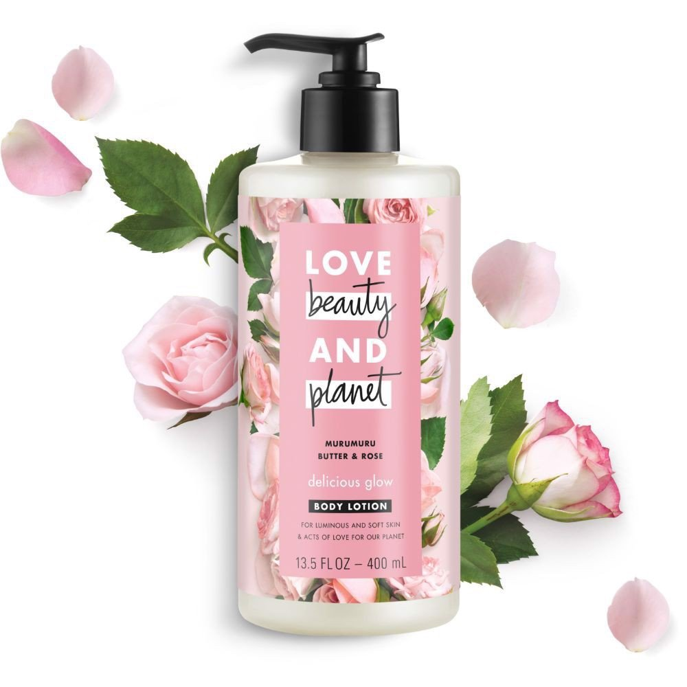 Sữa Dưỡng Thể Sáng Da Love Beauty And Planet Delicious Glow 400ml