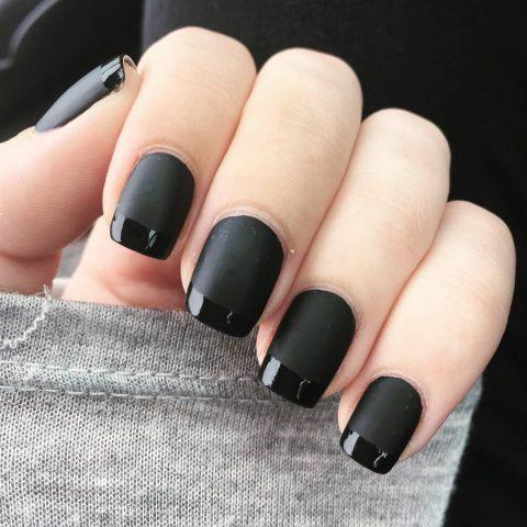 sơn móng tay đẹp, màu đen