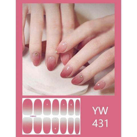 cách sơn móng tay đẹp màu hồng loang