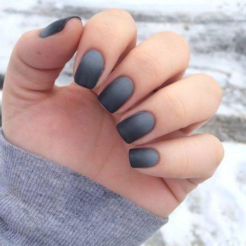 Kiểu sơn móng tay nhám đẹp