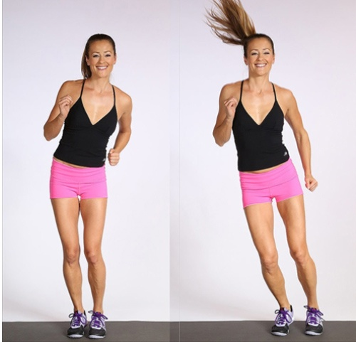 Bài tập Aerobic giảm mỡ bụng đơn giản tại nhà - Bài 4: tập nhảy sáng 2 bên