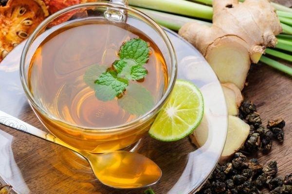 Cách pha trà gừng giảm cân với trà xanh