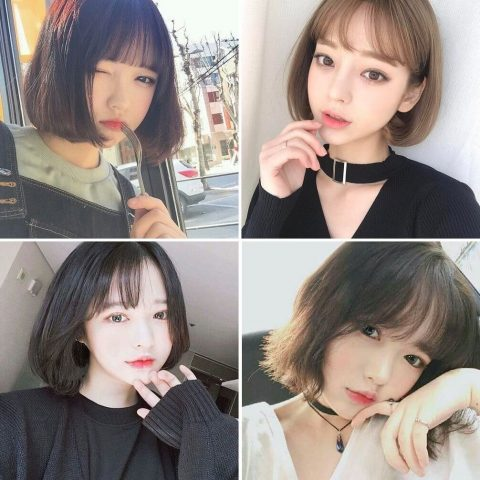 Kiểu tóc Nhật Ngắn mái thưa