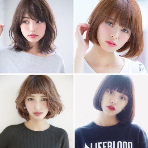 Kiểu tóc Nhật Ngắn kết hợp với mái bằng dày