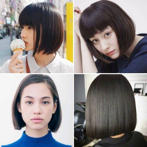 Kiểu tóc Nhật ngắn thẳng truyền thống
