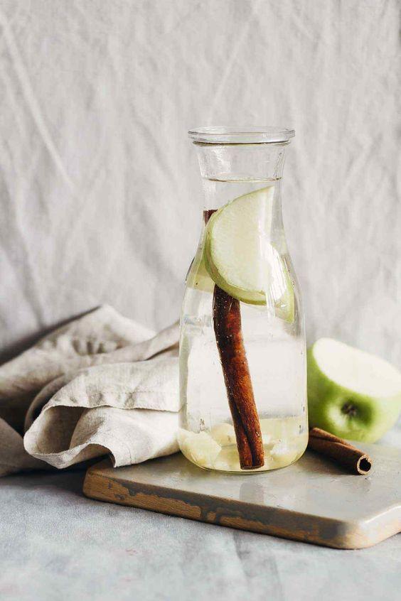 detox giảm mỡ bụng quế và táo