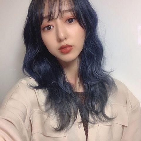 Tóc màu xanh khói xám