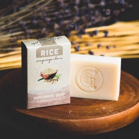 Xà phòng cám gạo Việt Nam - Plain Handmade Soap