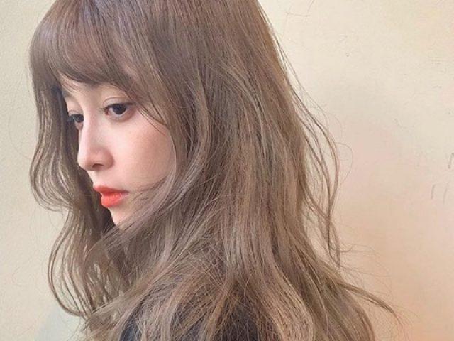 Nhuộm kiểu tóc màu nâu trà sữa giúp mang lại vẻ đẹp trong trẻo cho nàng