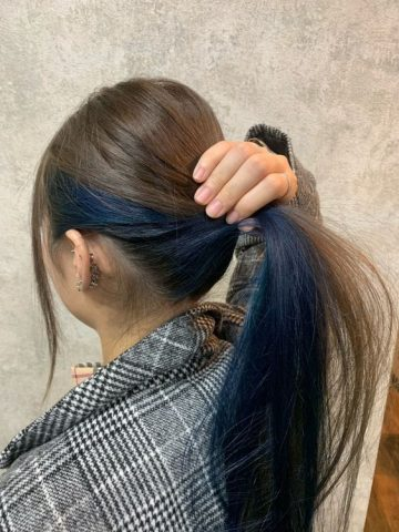 Nhuộm tóc giấu màu xanh làm siêu lòng nhiều cô gái