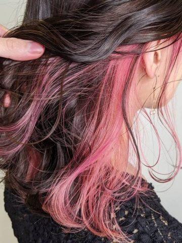 Nhuộm tóc giấu màu hồng