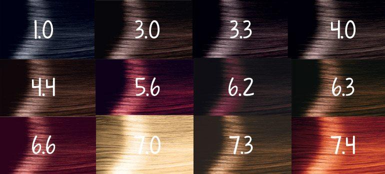 Cách đọc từng thông số trên bảng màu nhuộm tóc cơ bản