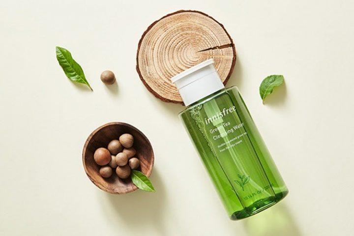 Nước tẩy trang cho da dầu mụn có chiết xuất từ trà xanh thiên nhiên