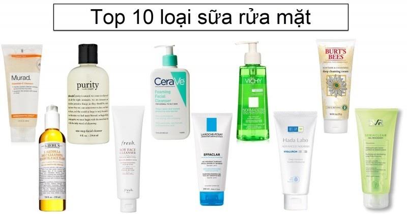 Làm sạch da với sữa rửa mặtt
