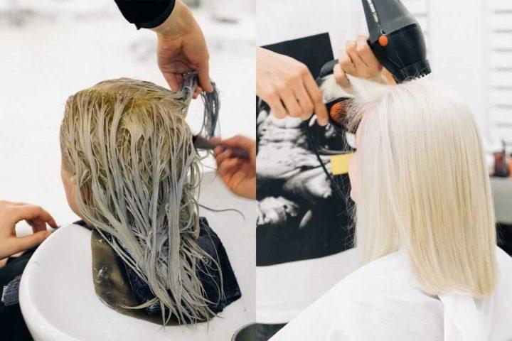 Pha màu nhuộm và tiến hành nhuộm tóc