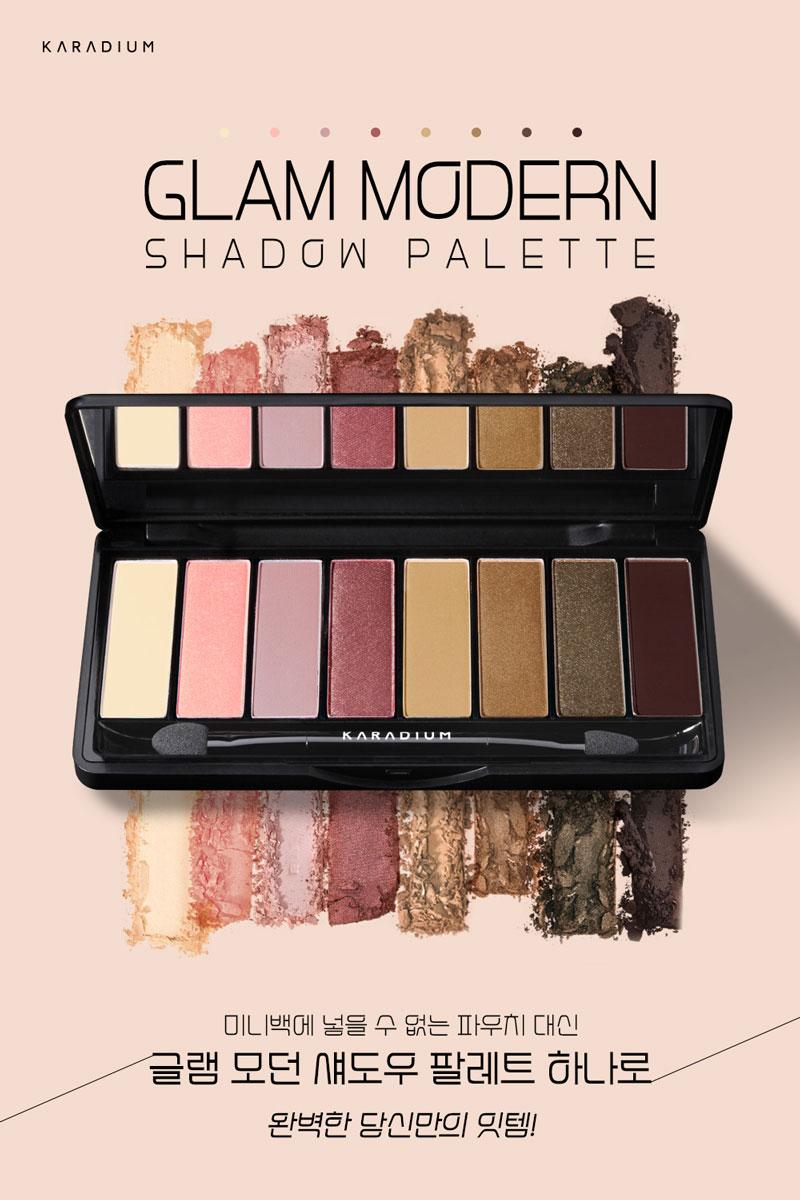Bảng màu mắt Karadium Glam Modern Shadow Palette