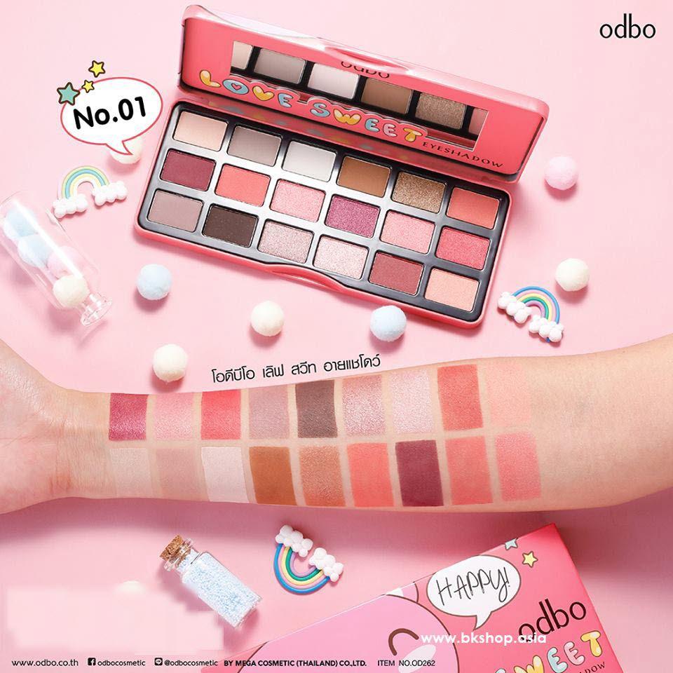 Bảng màu mắt Odbo Love Sweet