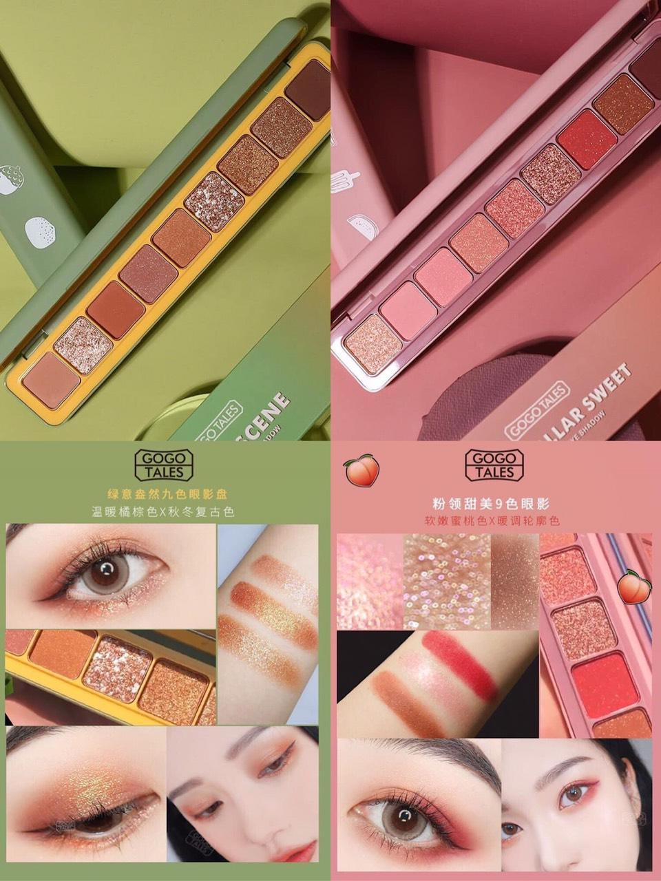 Bảng màu mắt Gogo Tales Nine Color Eye Shadow
