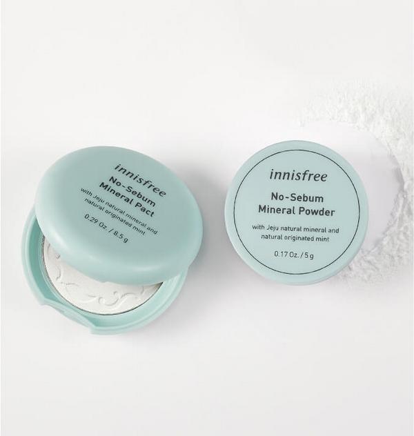 Phần nền dạng bột phủ Innisfree No Sebum Mineral Powder