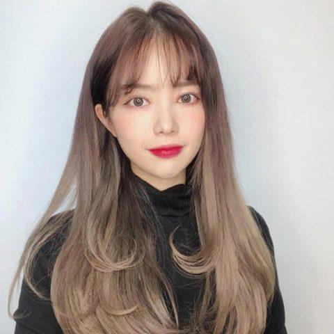 Tóc uốn đuôi mái thưa Hàn Quốc