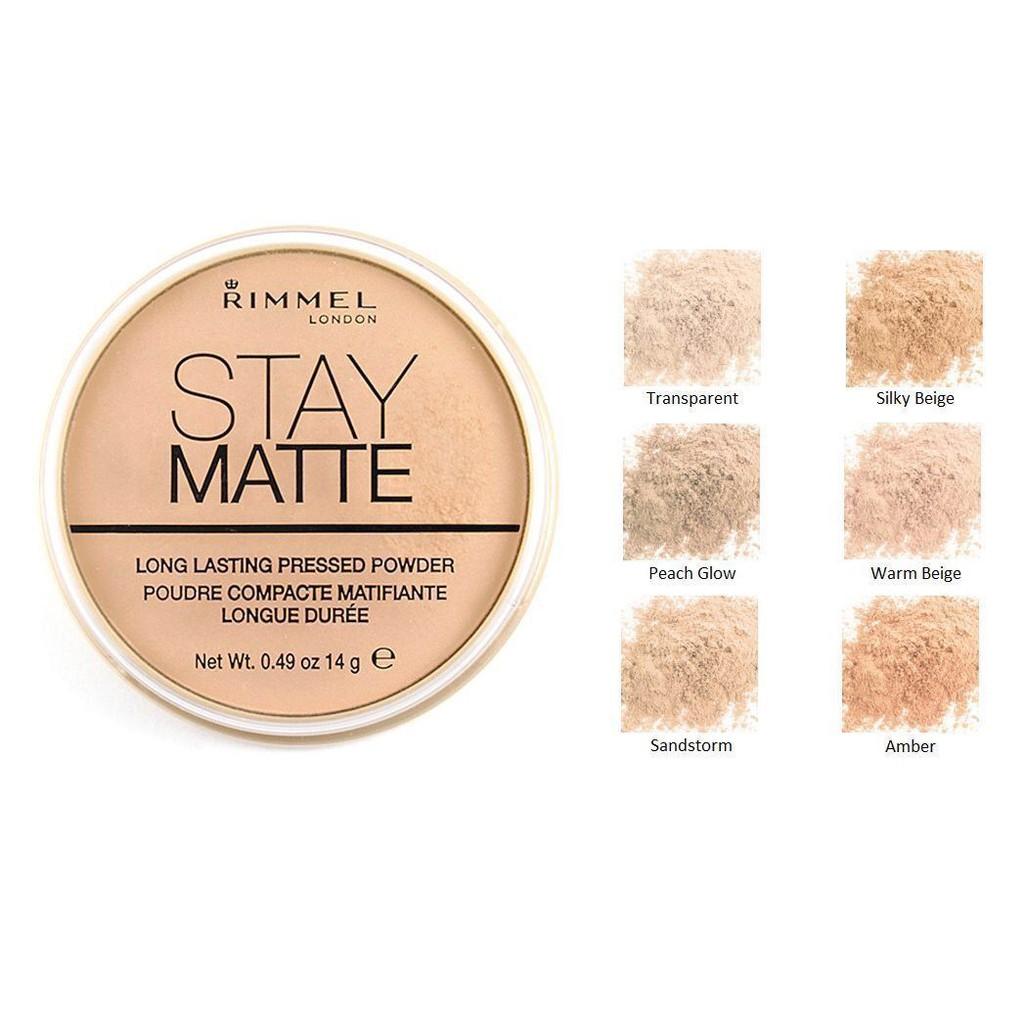 cách make up với sản phẩm phấn phủ Stay Matte Pressed Powder - Rimmel