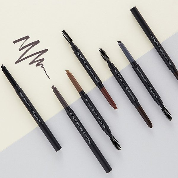 Cách make up tạo dáng chân mày - Kẻ mày Innisfree Auto Eyebrow Pencil