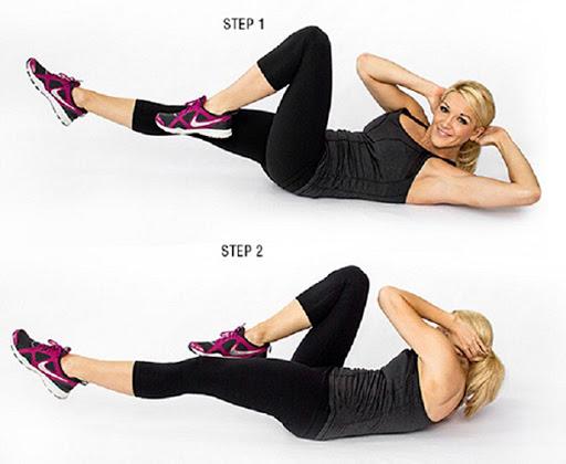 thể dục giảm cân nhanh gập bụng vặn người