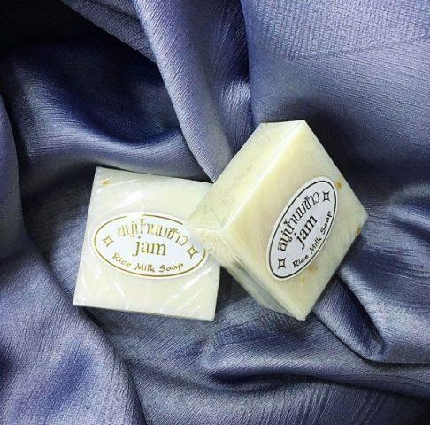 Xà bông cám gạo Thái Lan - Jam Rice Milk Soap Whitening Herbal Soap