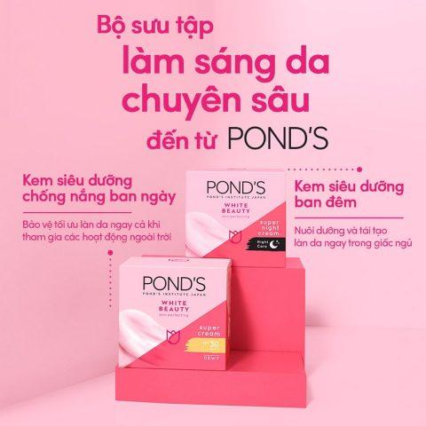 Kem dưỡng da trắng hồng rạng rỡ Pond's White Beauty