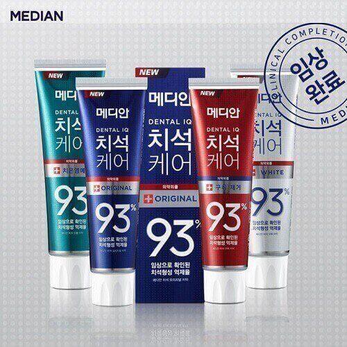 Kem đánh răng trắng răng Hàn Quốc Median 93%