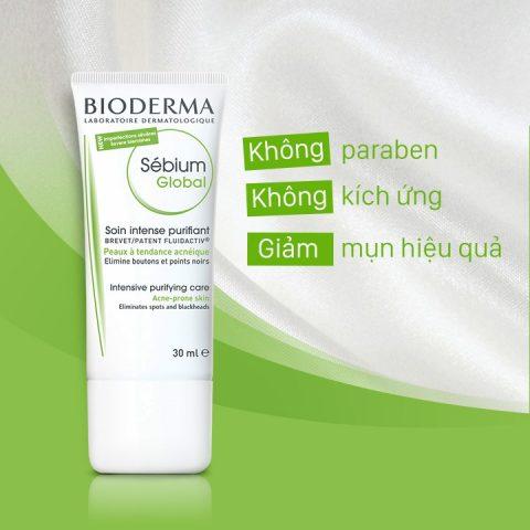 Kem dưỡng ẩm cho da mụn Bioderma Sebium Global