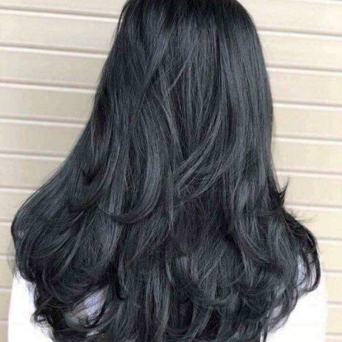 Màu tóc than chì cá tính