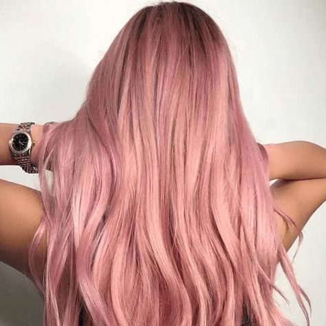 Tóc màu khói hồng