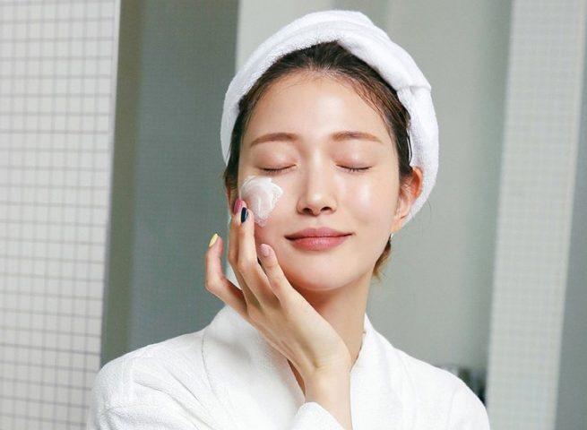dưỡng da sau khi xông mặt