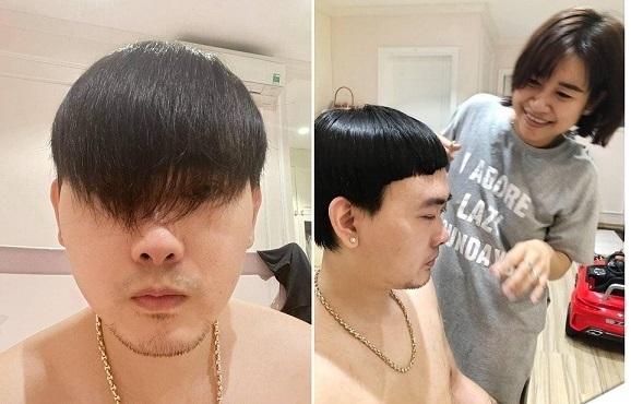 Vợ cắt tóc cho chồng