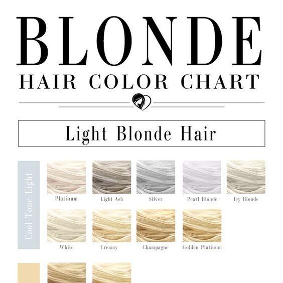 Bảng nhuộm tóc vàng cũng được nhiều chị em ưa chuộng như bảng màu tóc nâu