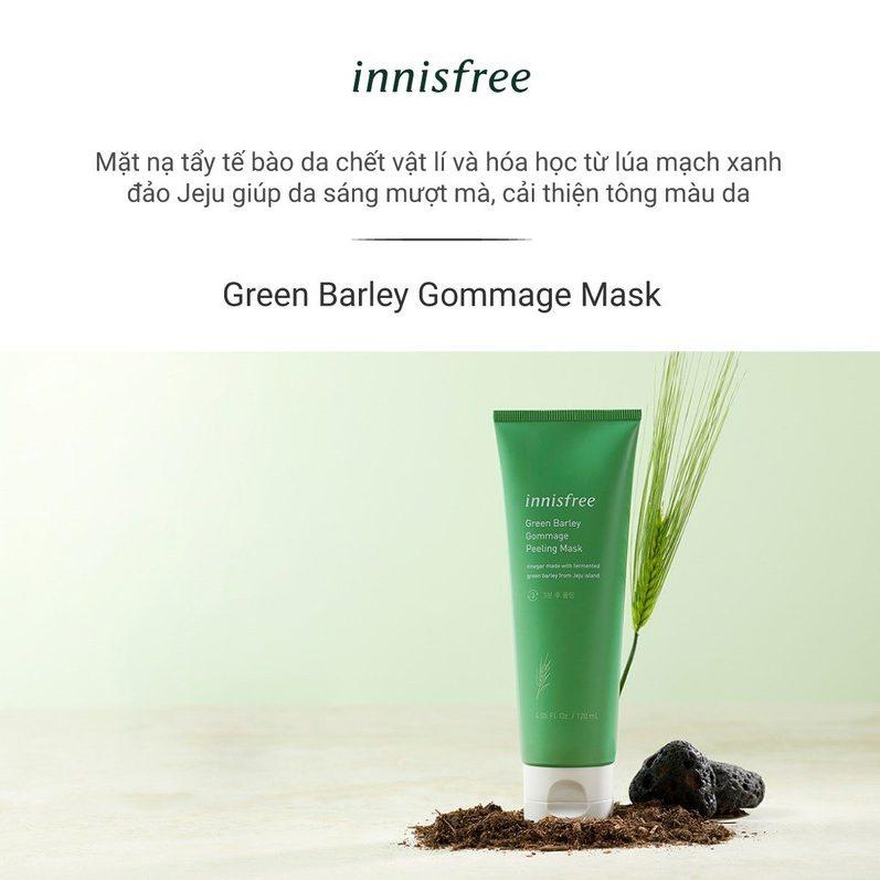 Kem tẩy tế bào chết mặt Innisfree Green Barley Gommage Peeling Mask