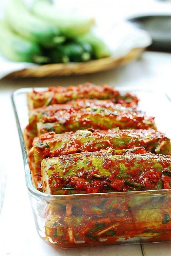 giảm cân bằng dưa chuột và kimchi