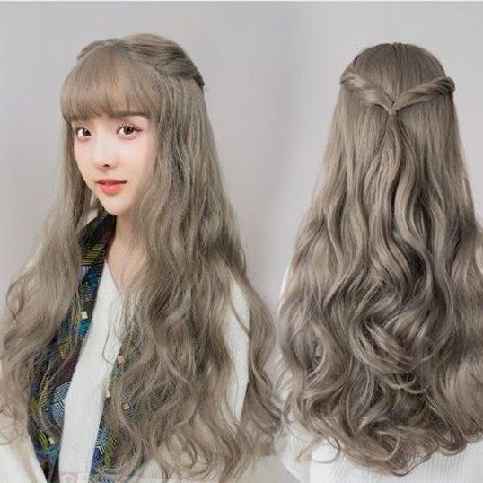 màu tóc cho da ngăm màu tóc xám khói đẹp nhất phù hợp với mọi loại da