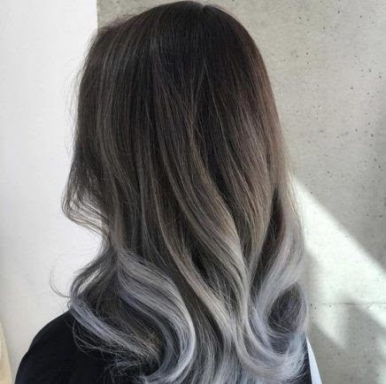 Màu xám lông chuột ombre - Màu tóc cho da ngăm làm sáng da