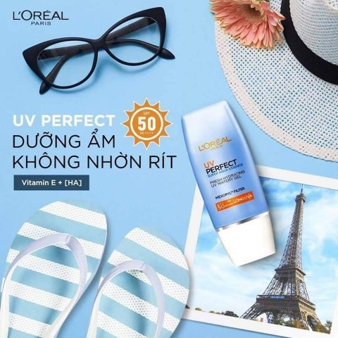 Kem chống nắng cho da khô L'Oreal Paris UV Perfect Aqua Essence SPF50+