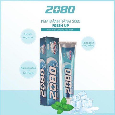 Review Kem đánh răng Hàn Quốc 2080 Fresh Up