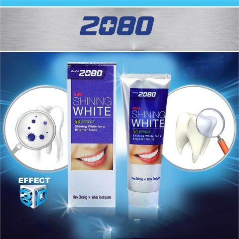 Kem đánh răng cao cấp 2080 Shining White 3D Effect
