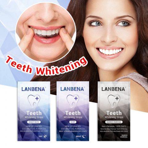 Review miếng dán trắng răng LANBENA