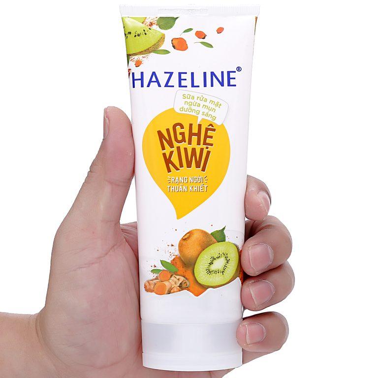 cách làm đẹp da với sửa rửa mặt Hazeline