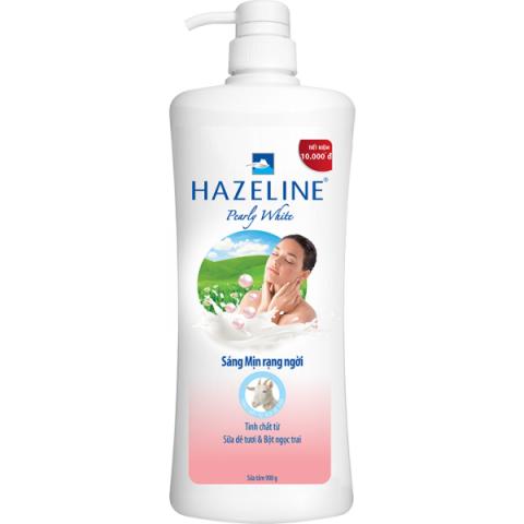 Sữa tắm kích trắng Hazeline Pearly White Sữa Dê Tươi – Bột Ngọc Trai