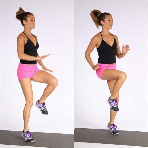 Động tác tập thể dục giảm cân nhanh nâng cao đùi